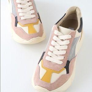 9e614e3d09b Steve Madden Shoes - Steve Madden Memory Pink Multi Leather Sneakers